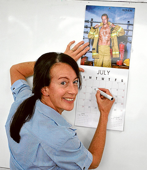 Action stations: Carolyn Donovan says her calendar pays tribute to firefighters – and raises funds for a worthy cause. Picture: Keith Platt