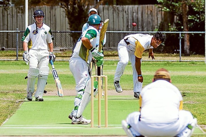 Stand-out performance: Lai Leaunoa picked up four wickets for Frankston YCW. Picture: Andrew Hurst