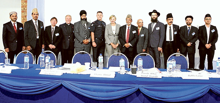 Leaders united: Religious and community leaders are united in their wish for peace.