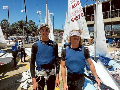 Shipshape: Nick Sharman and James Grogan prepare for their race.