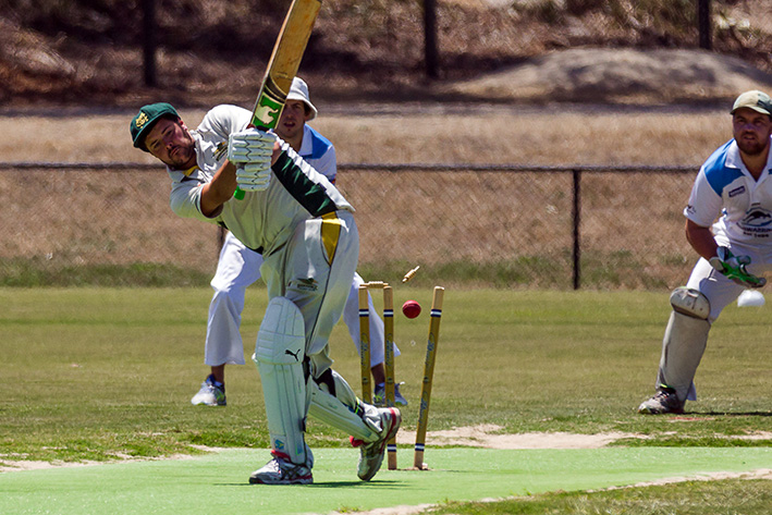 Moorooduc to water: Despite some stellar efforts, Moorooduc only managed to score 96 runs and were quickly overrun by Langwarrin. Picture: Andrew Hurst