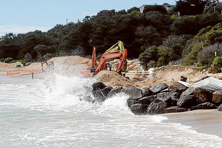Renourishment required: It's denied by the state government, but environmentalists believe channel deepening is causing continual erosion at Portsea. Picture: Keith Platt