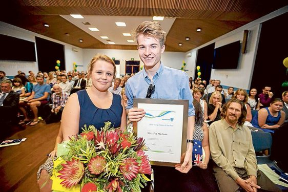 Young Citizen of the Year Tia McLean and Louis Cooke. Pictures: Yanni