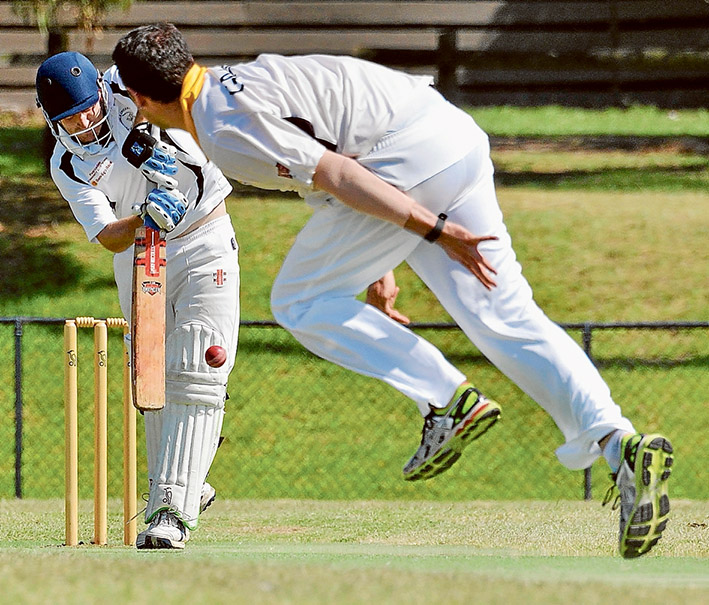 Thou shall not pass: Pearcedale successfully defended their 151-run total to keep Heatherhill out of fourth place. Picture: Rab Siddhi