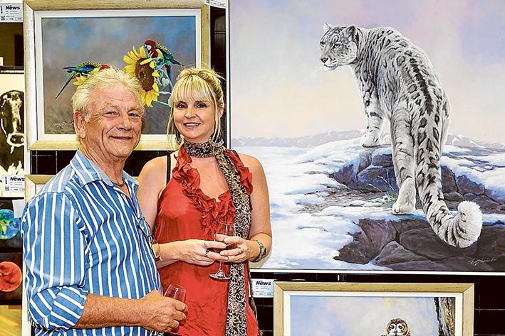 Mornington Art Show 2016 Photo: Featured Artist Eric Shepherd and Cherie Bryant.