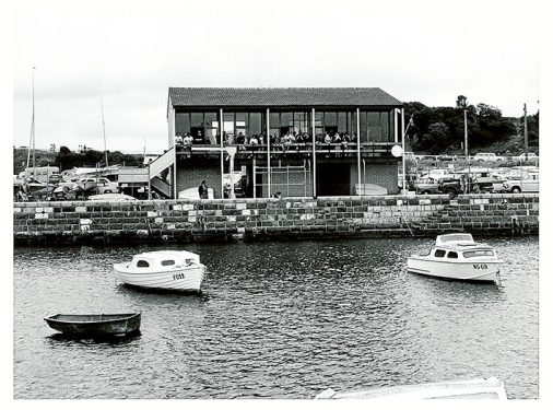 No frills: The clubhouse at Mornington Yacht Club in 1968.