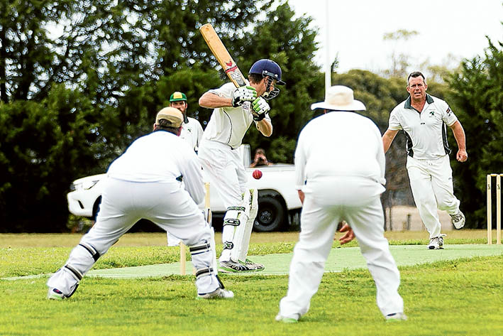 Walk in the park:  Carrum Downs did the job over Ballam Park with 13 overs to spare. Picture: Andrew Hurst