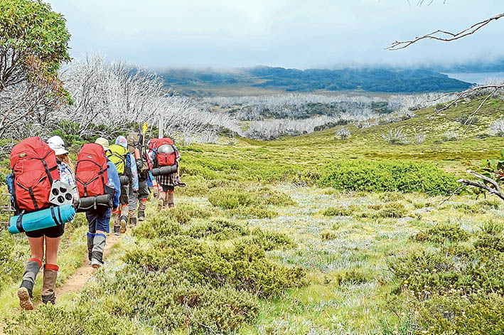 Walk on the wild side: Rosebud students trek through the High Country. Picture: Supplied