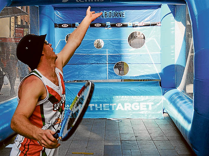 Eyes on target: Serves can be tested at the Somerville Tennis Club's open day, this Saturday, 6 February.