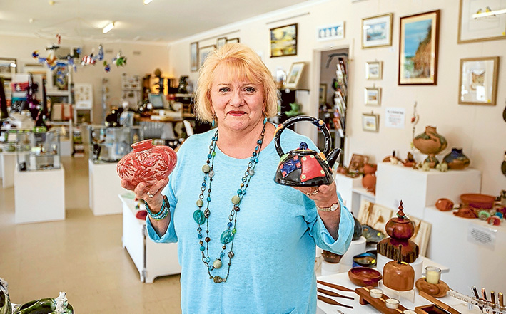 Sad to go: Kip Turner says it had been a privilege to sell peninsula artists' works. Picture: Yanni