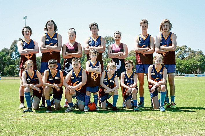 Yabbies united: Tyabb will field junior football and netball teams this season including a girls football team for the first time in the club's history. Picture: Angie Underwood