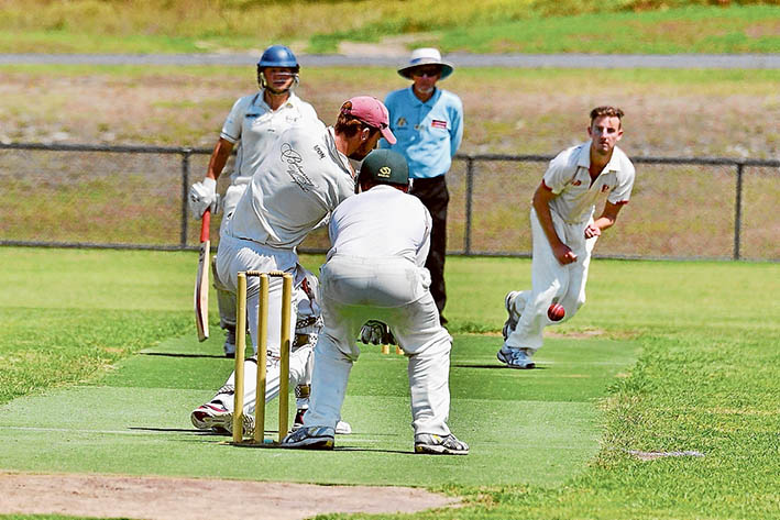 Forced feeding: The Braves turned to spin as they tried to sneak the pill past Red Hill's batsmen.  Picture: Rab Siddhi
