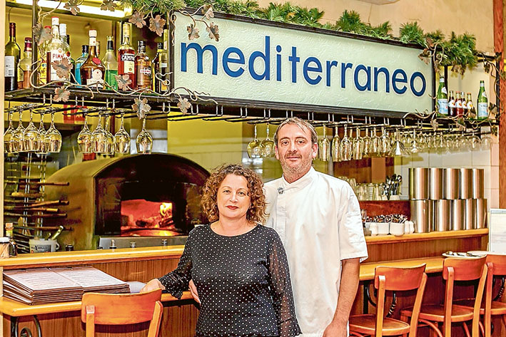 Time to relax: Joanne and David Alesci have decided to take a break after 14 years running Mornington restaurant, Mediterraneo. Picture: Yanni