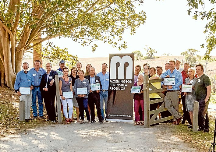 Market share: Local producers at the launch of Mornington Peninsula Produce certified trade mark at The Briars.