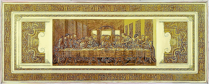 World acclaimed: Perry Fletcher's engraving The Last Supper and Borders catapulted him to world recognition as an engraver. He is now about to turn 70 and is holding a celebratory exhibition at the Oak Hill Gallery, Mornington.