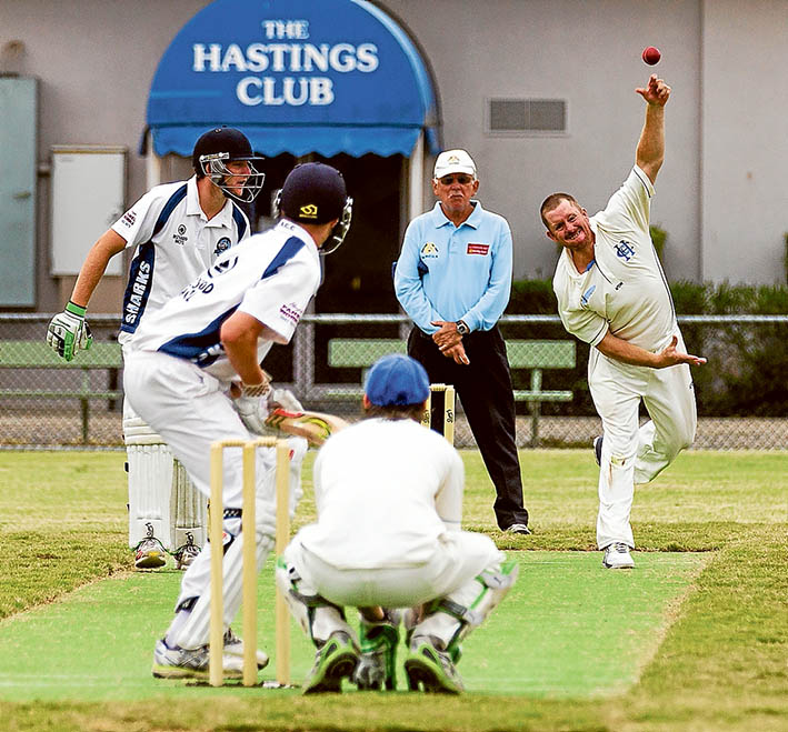 Bowled out of the finals: Rosebud managed to beat Hastings in their match, securing a grand final berth. Picture: Andrew Hurst