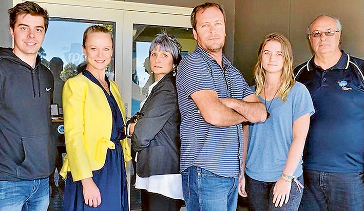 Ready to roll: The team behind 'Eye on the Peninsula' are (l to r) Mitch Gardiner, Jessica Swann, Debra Mar, Piers Cunningham, Amy Henson, and Ray Reid