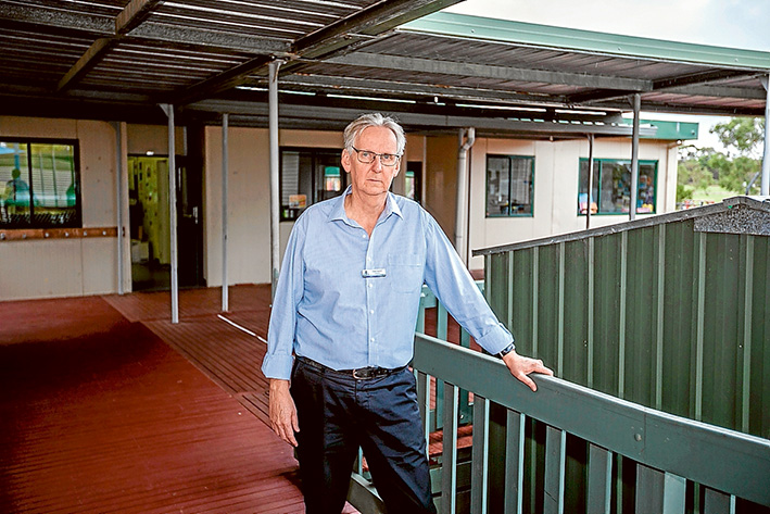 """On the outer: Principal David Newport says Mornington Special Development School's """"temporary"""" status has become more permanent over the years. Picture: Yanni"""