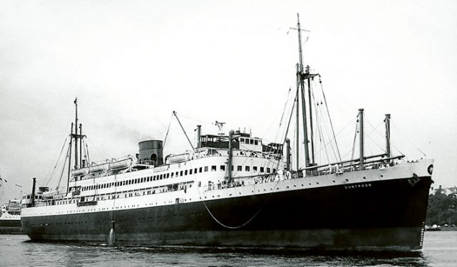 The 10,364 ton M V Duntroon.