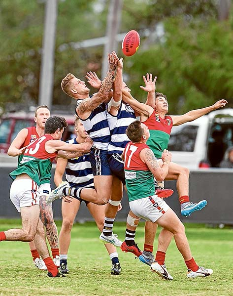 Omnishambles: The final siren marked a one point victory for Chelsea against Pines, but the umpires then declared it a draw. The review of the game by both coaches has confirmed Chelsea's victory. Now it is up to MPNFL to decide what to do. Picture: Scott Memery