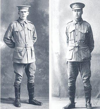 Driver Fred Dahlsen and Pte Arthur Dahlsen