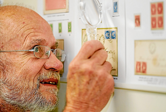 The good mail: Mt Martha's Jon Fladeby will exhibit his stamp collection in New York next month.        Picture: Yanni