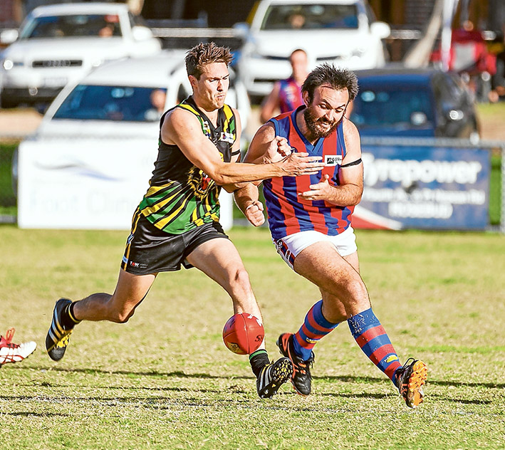 Devil of a time: Dromana got home over Rye with an eight point win. Picture: Andrew Hurst