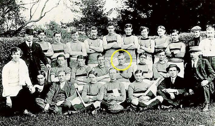 Above: Mornington football team, 1914. Robert Bates circled.