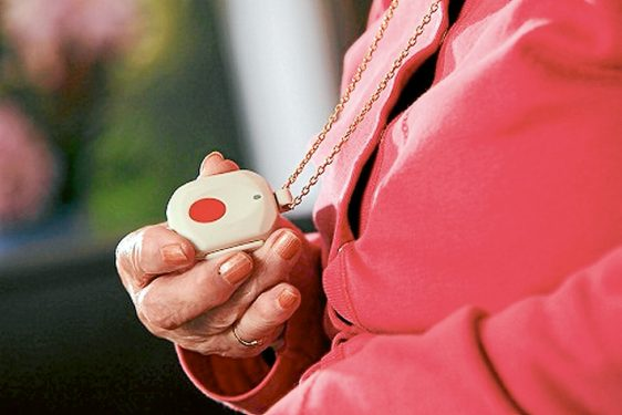 Out and about: This new pendant alarm could work in any location.