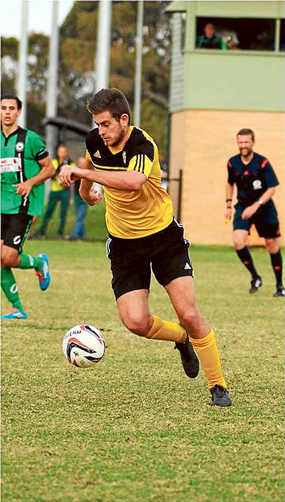Dylan double: Seaford's Dylan Waugh scored twice against Doncaster Rovers. Picture: Darryl Kennedy.