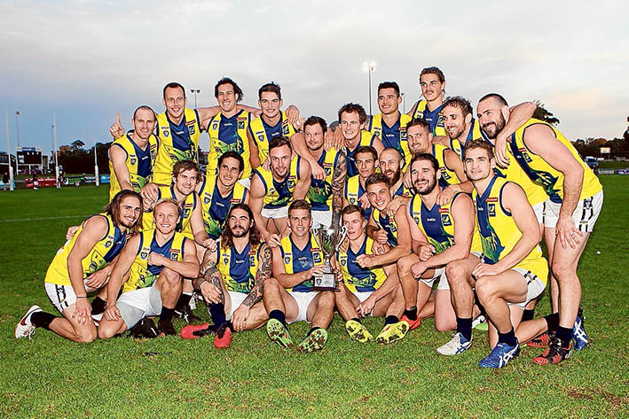 Sharks come out on top: Thirty points was the comfortable margin at the end of of MPNFL Sharks and Northern League seniors clash. Picture: Scott Memery