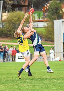 Young Guns fall short: Just ten points was the final margin in Young Gun's match against Yarra Ranges.Picture: Andrew Hurst