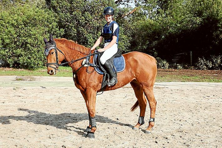 High achiever: Lauren Clark on her horse Fieldend Double Trouble.