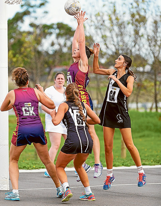 Results are black and white: Tyabb lost to Crib Point 27 to 32 in Nepean A Grade netball. Picture: Andrew Hurst