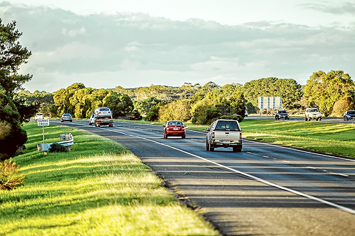 No noise is good noise: Wayne Ashley is fighting for sound abatement measures on the Mornington Peninsula Freeway. Pictures: Yanni