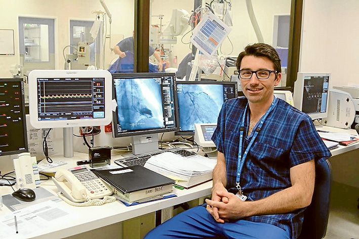 Have a heart: Associate Professor Jamie Layland is one of few doctors to have inserted an absorbable heart stent into a patient.
