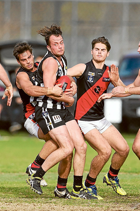Magpie cull: Frankston Bombers showed no mercy to Crib point, thrashing them by 78 points. Picture: Scott Memery