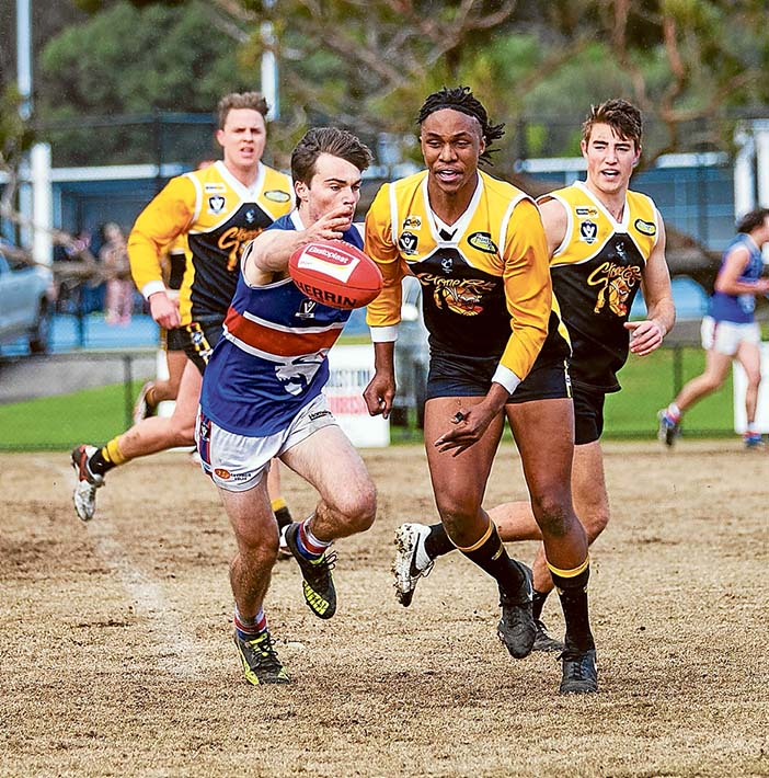 Pipped at the post: Mornington led for most of the day before Frankston YCW got their noses in front for a win. Picture: Andrew Hurst