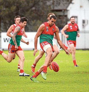 Pines power: The Pythons blew Karingal away, running out 34 point winners. Picture: Andrew Hurst