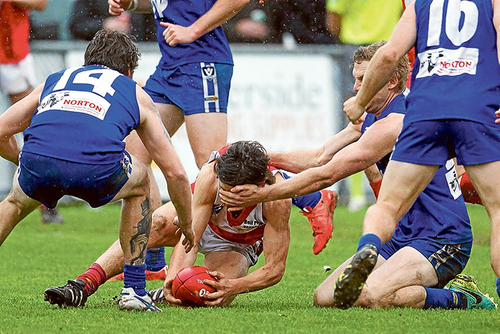 Dark days for Hillmen: Hastings put Red Hill out of the 2016 premiership race after a 21 point victory. Picture: Scott Memery