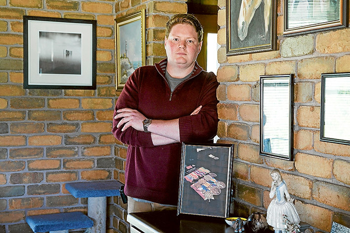 Callous thieves: Marc Burton-Walter is dismayed at the theft of heirloom service medals. Picture: Gary Sissons