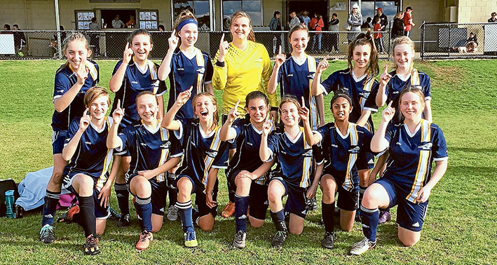 Girl power: The team at Peninsula Strikers is giving the competition a run for their money.