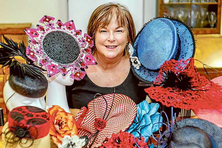 Passion for fashion: Jo Peterson's creative flair turns heads. Picture: Yanni