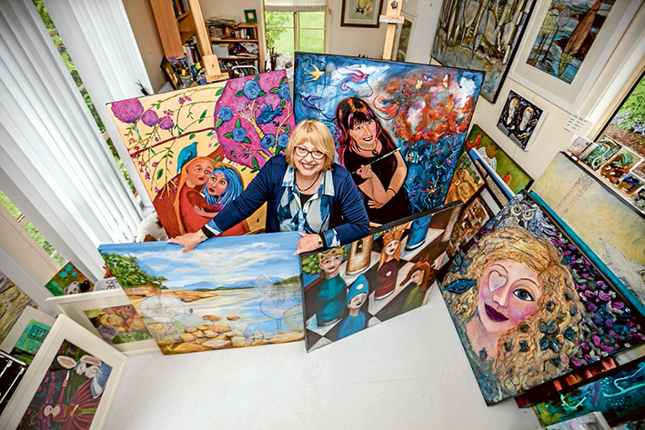 Creative feats: Multi-faceted artists Lorna Gerard of Mt Eliza is part of the Peninsula Studio Trail. Picture: Yanni