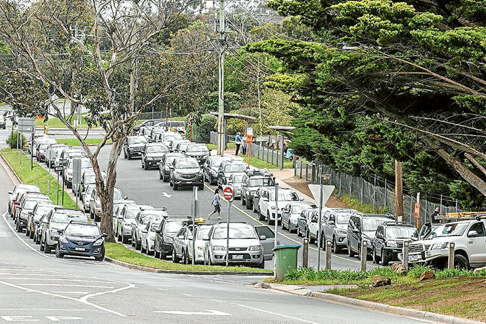 Parking nightmares: Cars parking illegally are a headache for Mt Eliza Primary School. Picture: Gary Sissons.