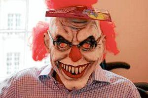 Scary face: Clown craze has frightening overtones.