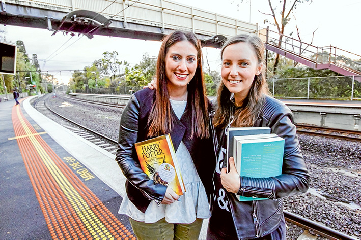 Bookspotting: Ali Berg, left, and Michelle Kalus to launch an innovative Frankston line book club.
