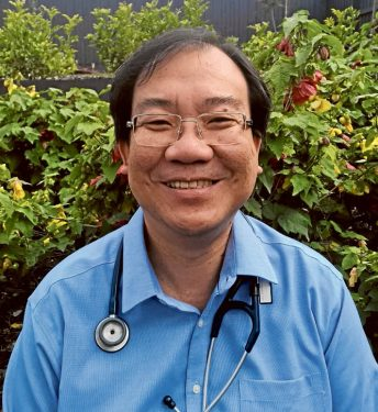 Night to remember: Dr Leong Gough was in charge of the Frankston Hospital's emergency department as the event unfolded. Picture: Supplied