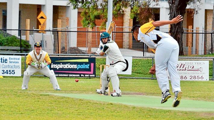Close call: Frankston YCW grabbed a win from Dromana, bowling them out eight runs short with one over left in the day. Picture: Rab Siddhi