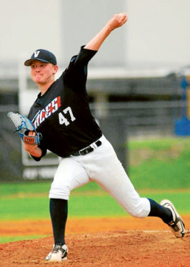 Walking on air: Pitcher and first baseman Jayson Arthur hopes to one day play major league baseball.